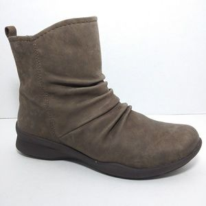 Earth Stone Leather Ankle Boots Size 6